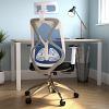Maldini High Back Black Mesh Chair Blue
