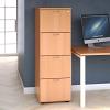 Essentials - 4 Drawer Filing Cabinet Beech