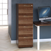 Essentials - 4 Drawer Filing Cabinet Walnut