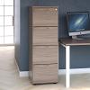Essentials - 4 Drawer Filing Cabinet Grey