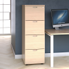 Essentials - 4 Drawer Filing Cabinet Maple