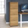 Essentials - 4 Drawer Filing Cabinet Light Oak