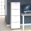 Essentials - 4 Drawer Filing Cabinet White