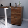Essentials - 3 Drawer Desk High Pedestal (800mm Deep) Walnut