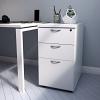 Essentials - 3 Drawer Desk High Pedestal (800mm Deep) White