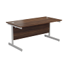 Essentials - 1600mm Rectangular Desk Dark Walnut