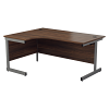 Essentials - 1800mm Left Hand Crescent Workstation Dark Walnut