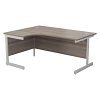 Essentials - 1800mm Left Hand Crescent Workstation Grey Oak