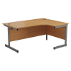 Essentials - 1600mm Right Hand Crescent Workstation Beech