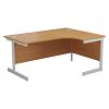 Essentials - 1600mm Right Hand Crescent Workstation Oak