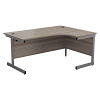 Essentials - 1800mm Right Hand Crescent Workstation Grey Oak