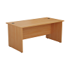 Essentials - 1600mm Panel End Rectangular Desk Beech