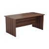 Essentials - 1600mm Panel End Rectangular Desk Dark Walnut