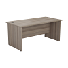 Essentials - 1600mm Panel End Rectangular Desk Grey Oak