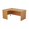 Essentials - 1600mm Panel End Left Hand Crescent Desk Beech