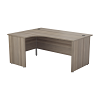 Essentials - 1600mm Panel End Left Hand Crescent Desk Grey Oak