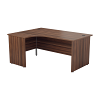 Essentials - 1600mm Panel End Left Hand Crescent Desk Dark Walnut