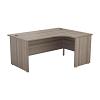 Essentials - 1800mm Panel End Right Hand Crescent Desk Grey Oak