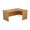 Essentials - 1800mm Panel End Right Hand Crescent Desk Oak