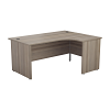 Essentials - 1600mm Panel End Right Hand Crescent Desk Grey Oak