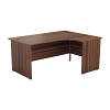 Essentials - 1600mm Panel End Right Hand Crescent Desk Dark Walnut