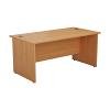 Essentials - 1800mm Panel End Rectangular Desk Beech
