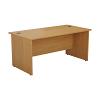 Essentials - 1800mm Panel End Rectangular Desk Oak