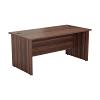 Essentials - 1800mm Panel End Rectangular Desk Dark Walnut