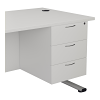 Essentials - 3 Drawer Fixed Pedestal White