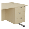 Essentials - 3 Drawer Fixed Pedestal Maple