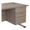 Essentials - 3 Drawer Fixed Pedestal Grey Oak