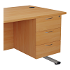 Essentials - 3 Drawer Fixed Pedestal Beech