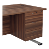Essentials - 3 Drawer Fixed Pedestal Dark Walnut