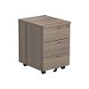 Essentials - 3 Drawer Mobile Pedestal Grey Oak