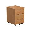 Essentials - 3 Drawer Mobile Pedestal Oak