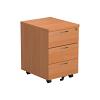 Essentials - 3 Drawer Mobile Pedestal Beech
