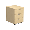 Essentials - 3 Drawer Mobile Pedestal Maple