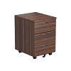 Essentials - 3 Drawer Mobile Pedestal Walnut