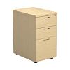 Essentials - 3 Drawer Desk High Pedestal Maple