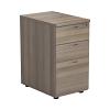 Essentials - 3 Drawer Desk High Pedestal Grey Oak