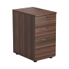 Essentials - 3 Drawer Desk High Pedestal Walnut