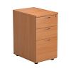 Essentials - 3 Drawer Desk High Pedestal Beech