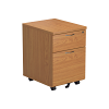 Essentials - 2 Drawer Mobile Pedestal Oak