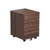 Essentials - 2 Drawer Mobile Pedestal Walnut