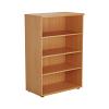 Essentials - 1200mm High Bookcase Beech