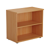 Essentials - Desk High Bookcase Beech