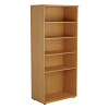 Essentials - 1800mm High Bookcase Oak