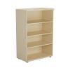 Essentials - 1200mm High Bookcase Maple