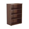 Essentials - 1200mm High Bookcase Walnut