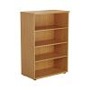 Essentials - 1200mm High Bookcase Oak